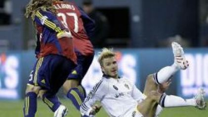 Los angeles galaxy beckham sal lake