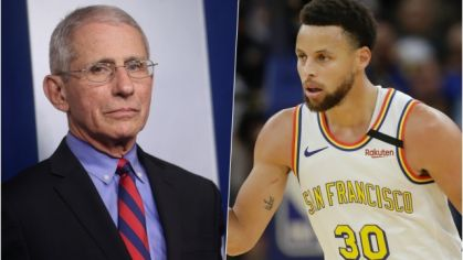 Anthony Fauci a Stephen Curry.