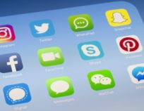 FaceTime, Skype and other social media Apps on iPad screen