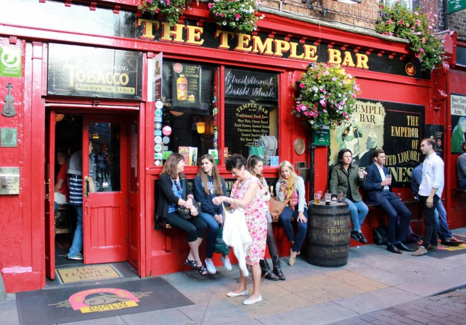 Legendárny Temple bar v Dubline