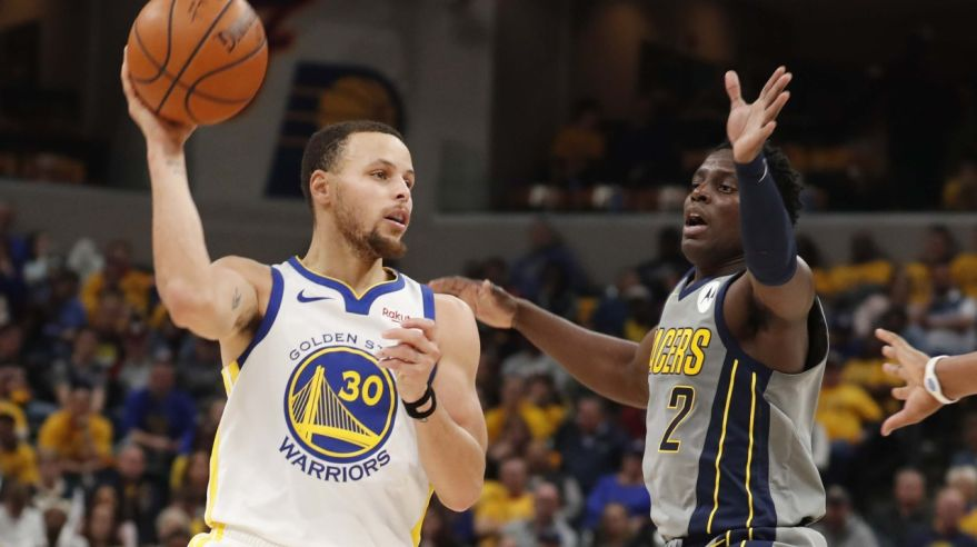 Stephen Curry ( Golden State Warriors) a Darren Collison (Indiana Pacers).