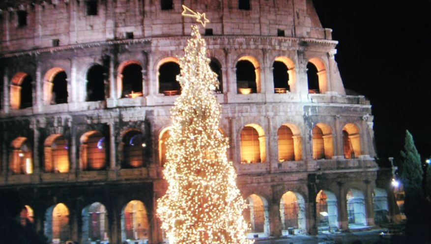Coliseum in Christmas, Rome (Italy)