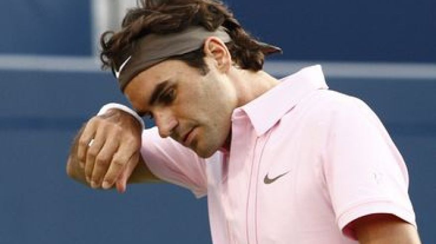 Federer ruzovy atp rogers cup 2010 semifinale