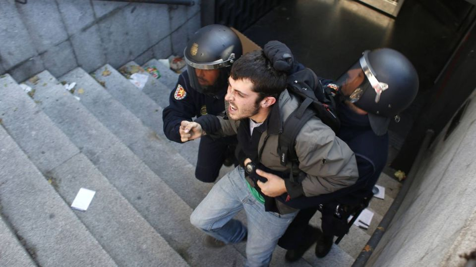 Protesty madrid  november ulice  reuters