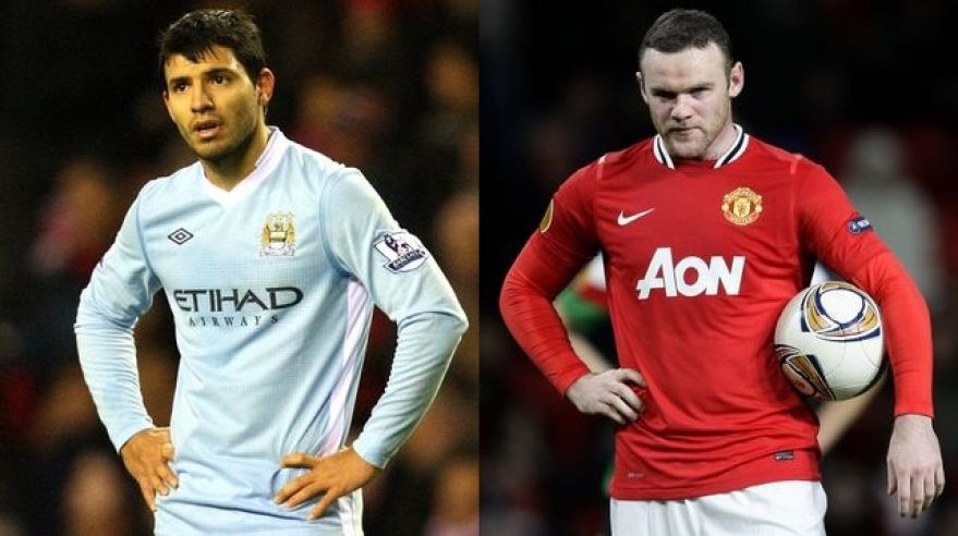 Aguero man city mix rooney man utd