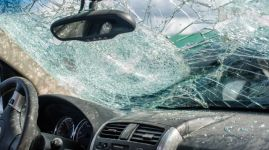 Driving collision aftermath insurance concept auto accident