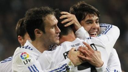 Carvalho ronaldo kaka real madrid hraci radost jan2011