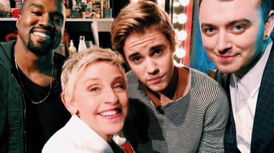 Ellen DeGeneres, Kanye West, Justin Bieber, Sam Smith