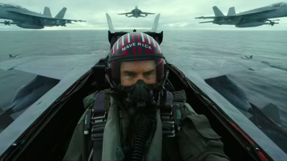 Tom Cruise vo filme Top Gun: Maverick