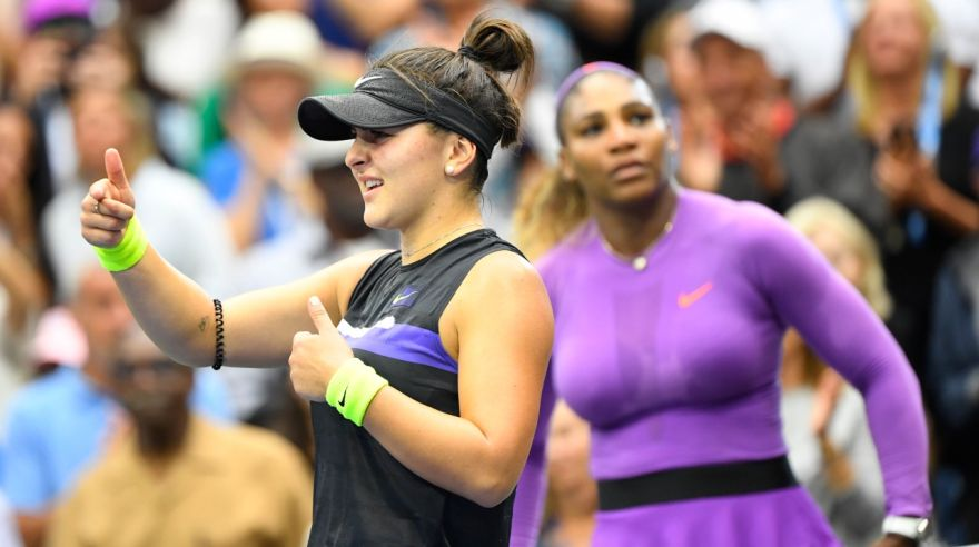 Bianca Andreescu a Serena Williams