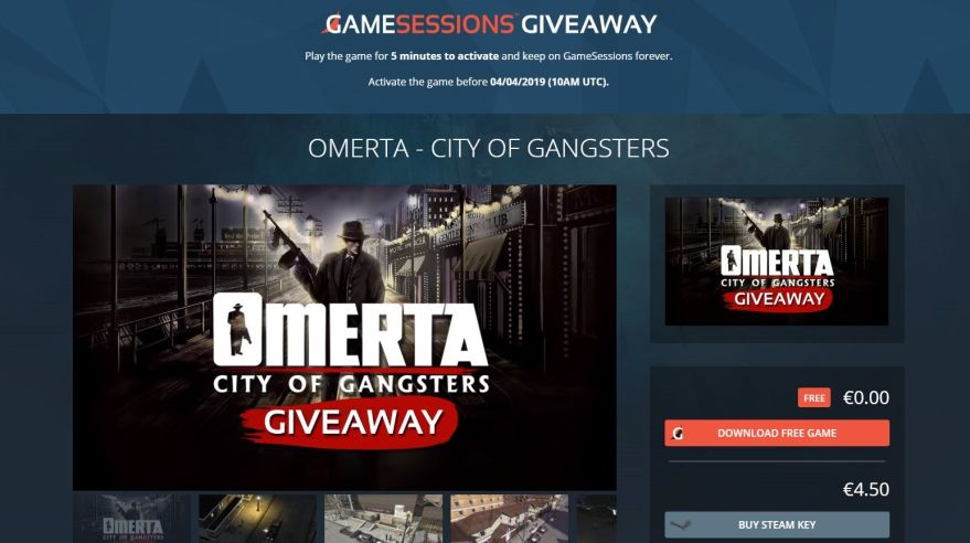 Omerta – City of Gangsters je zadarmo na GameSessions.