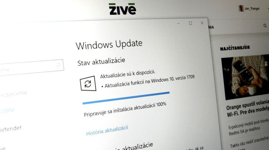 Windows 10 Fall Creators Update zamieril na počítače