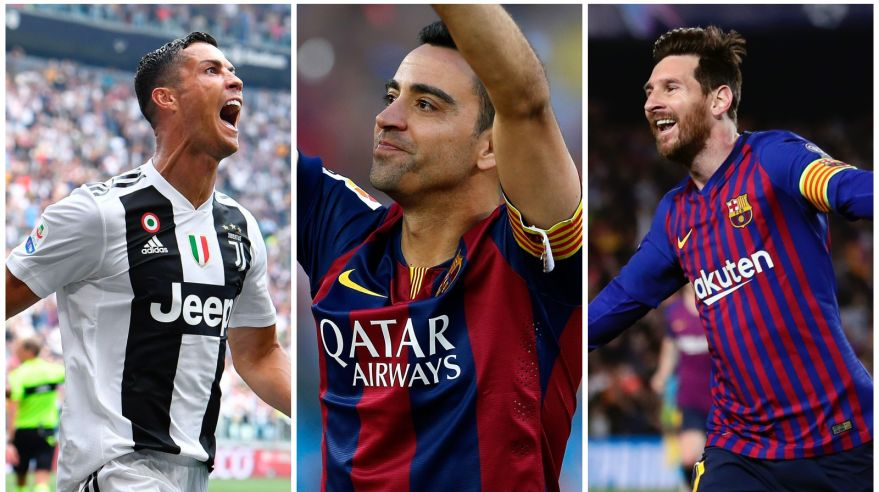 CR7, Xavi a Leo Messi.