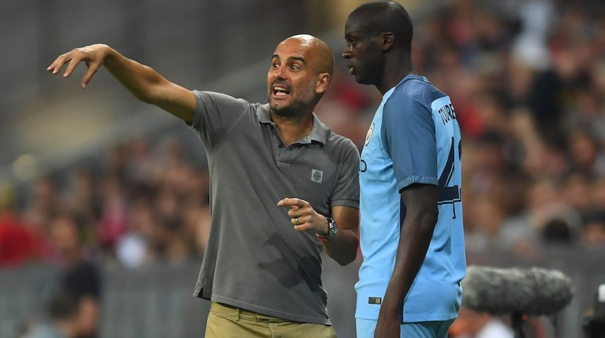 Pep Guardiola a Yaya Toure