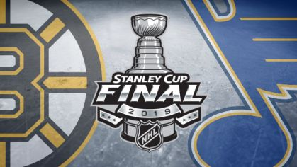 Boston Bruins - St. Louis Blues (finále Stanley Cupu 2019).