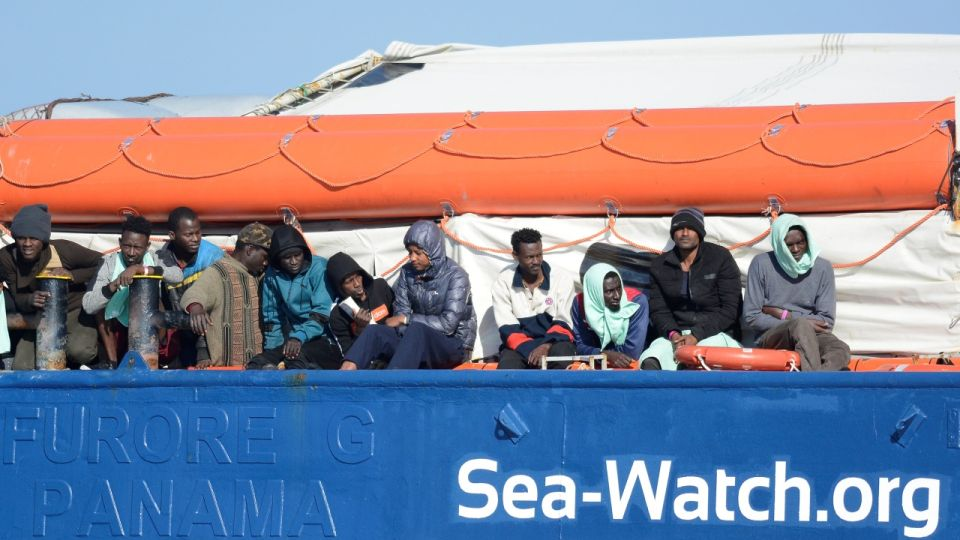 Migranti na lodi Sea Watch 3