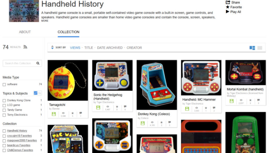 Handheld History Collection