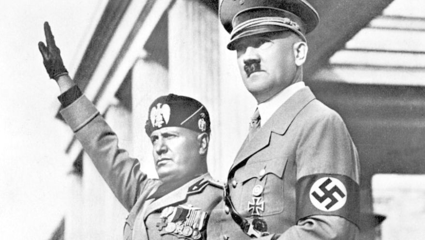 Mussolini a Hitler