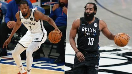 Kevin Durant a James Harden.
