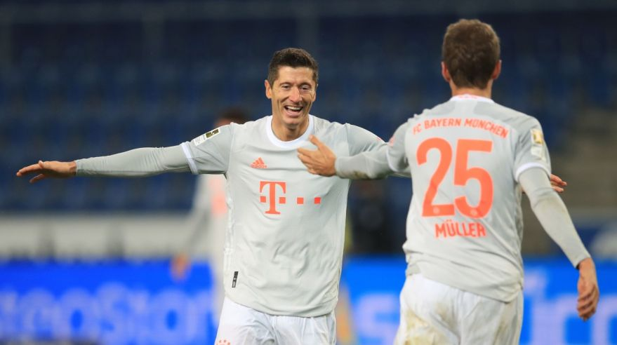 Thomas Müller a Robert Lewandowski