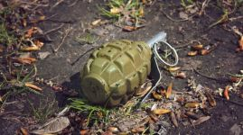 hand grenade grenade lying on the ground