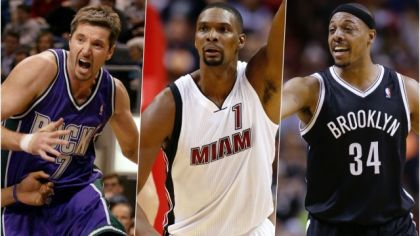 Toni Kukoč, Chris Bosh a Paul Pierce.