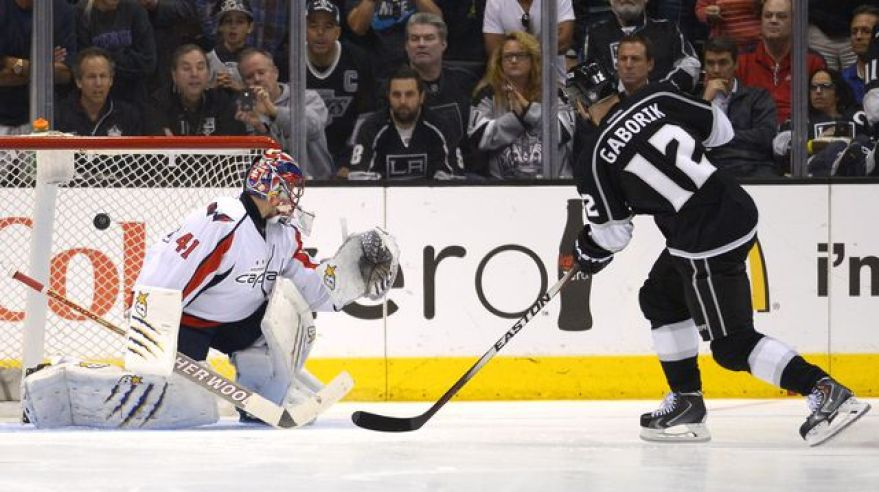 Marian gaborik los angeles gol vs jaroslav halak washington mar2014 sita