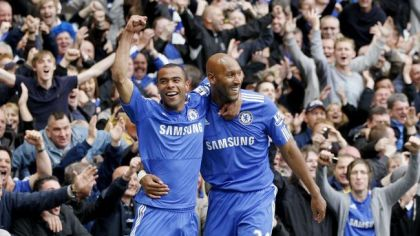 Nicolas anelka gol oslava ashley cole chelsea