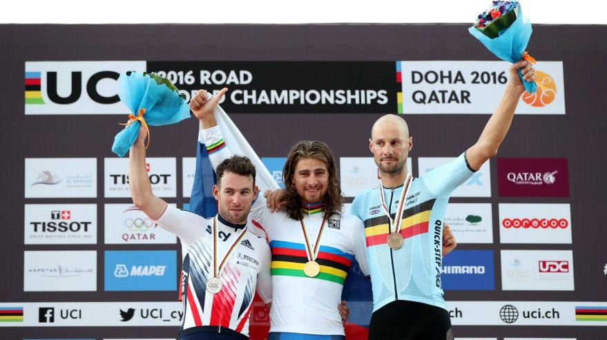 Peter Sagan Mark Cavendish Tom Boonen MS Katar okt16 Reuters