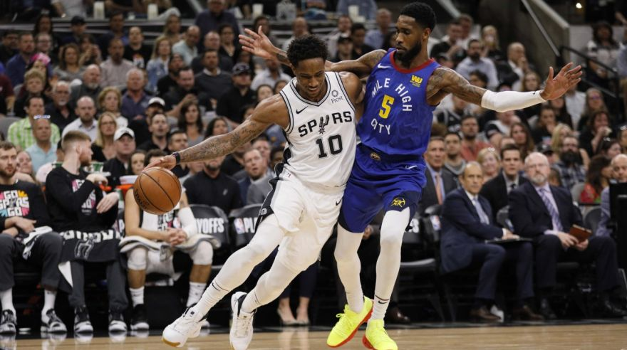 DeMar DeRozan ( San Antonio Spurs) a Will Barton (Denver Nuggets).