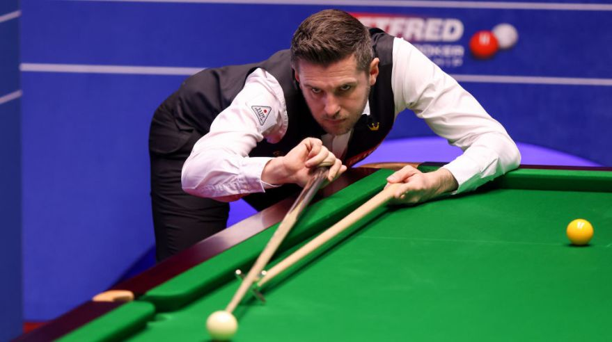 Mark Selby na MS v snookri 2021
