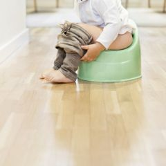Child sitting on the potty
