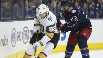 Columbus Blue Jackets a Las Vegas Golden Knights.