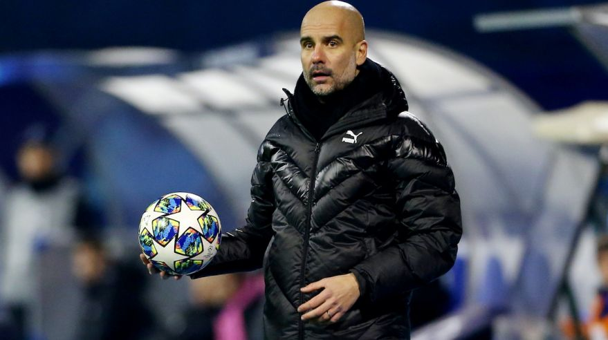 Tréner Manchestru City Pep Guardiola.