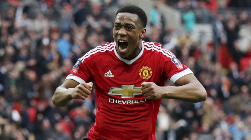Manchester United FA Cup Anthony Martial gol apr16 Reuters