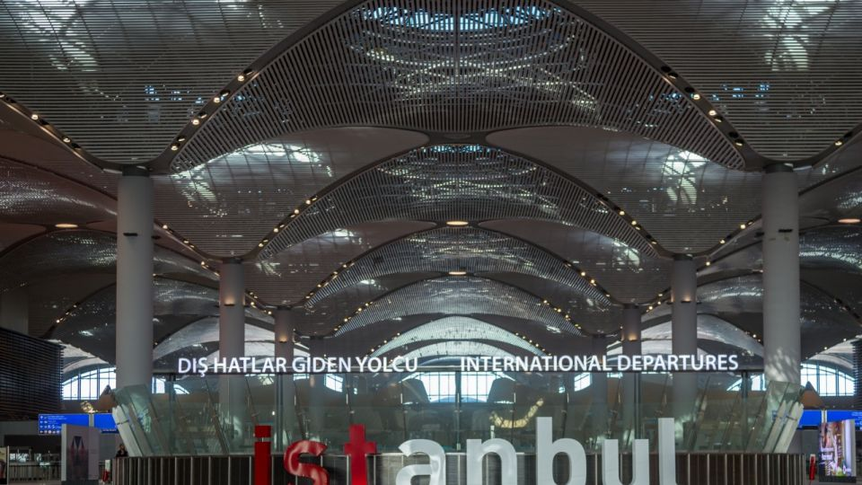 New Istanbul Airport Terminal. Third Istanbul Airport, interior view