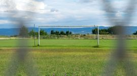 Image of Outdoor football school stadium.