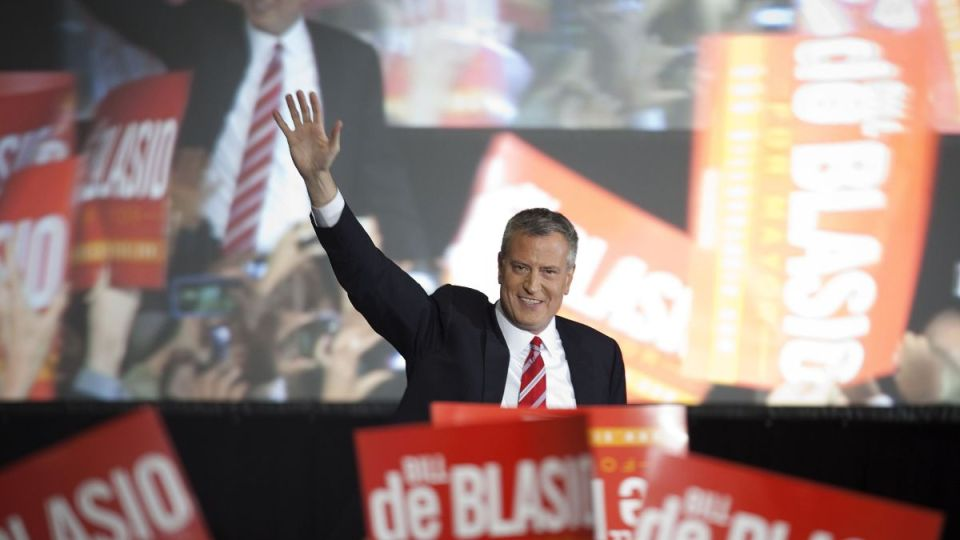 Bill de blasio novy starosta new york  reuters