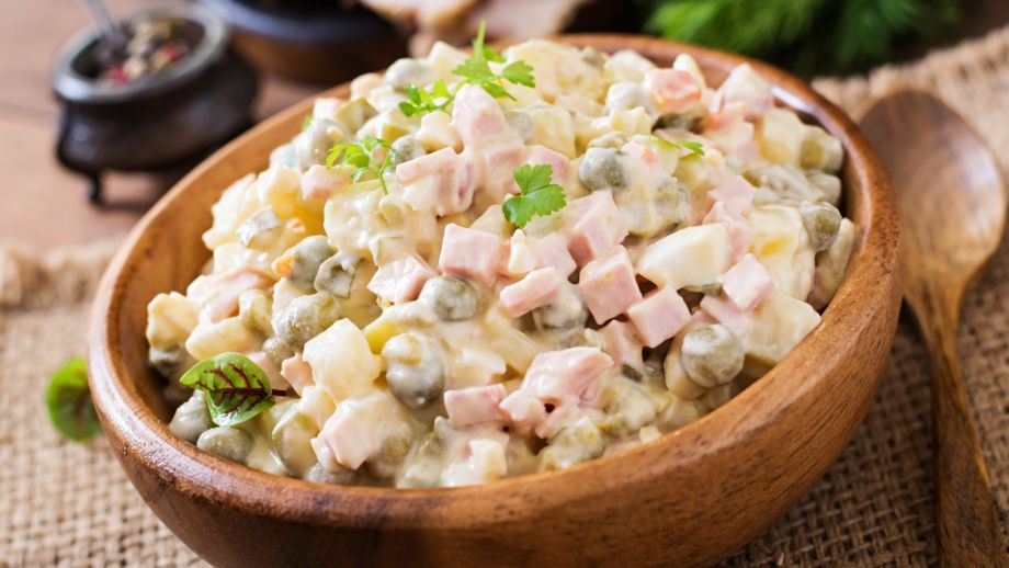 Traditional Russian salad 'Olivier'