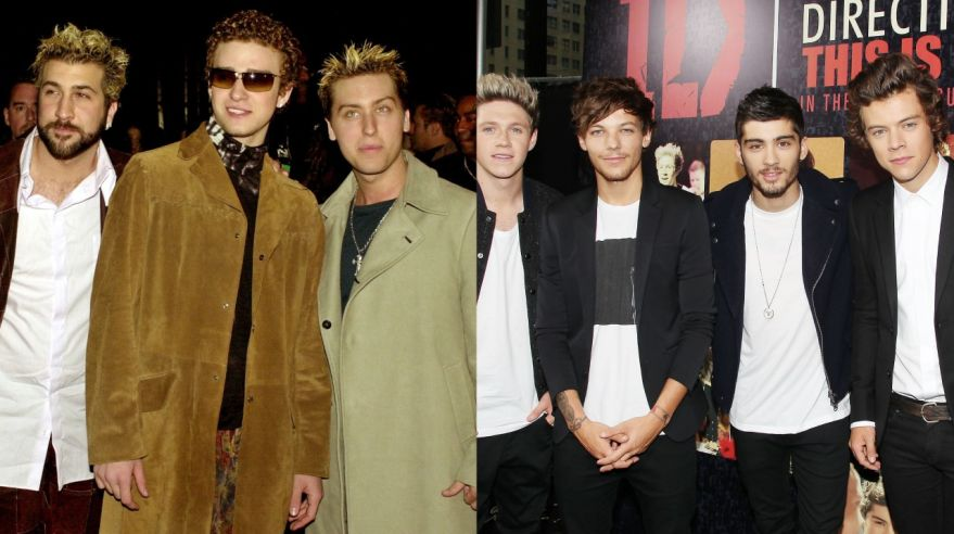 Skupiny N'Sync a One Direction