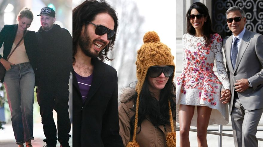 Cameron Diaz, Benji Madden, Katy Perry, Russell Brand, George Clooney