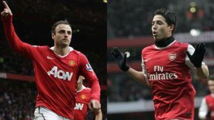 Berbatov plus nasri man utd vs arsenal