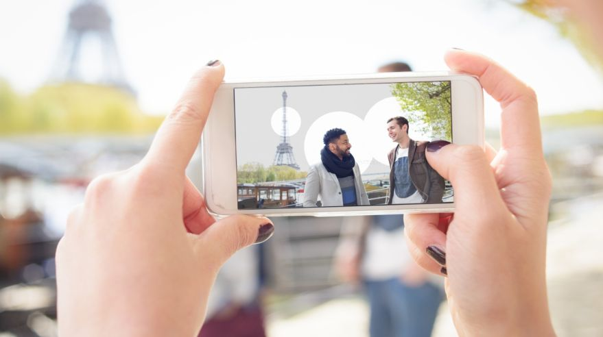 Using an Augmented Reality Application on Smart Phone Concept
