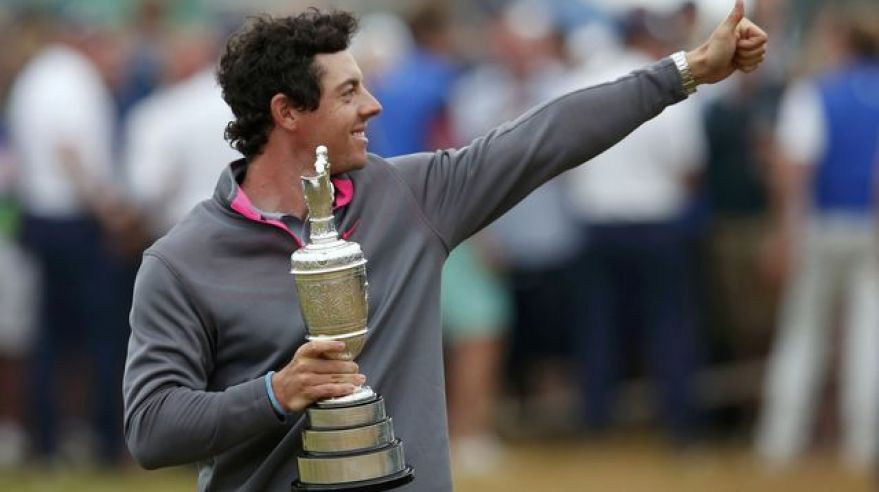 Rory mcilroy golf titul british open jul14 reuters