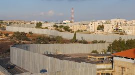 Israel's Security Barrier on edge of Bethlehem