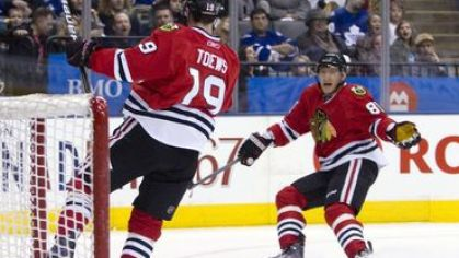 Toews hossa gol chicago blackhawks