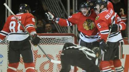 Hossa kopecky chicago blackhawks