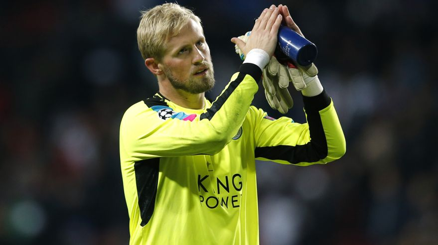 kasper chmeichel, leicester city, futbal, anglicko, okt2016