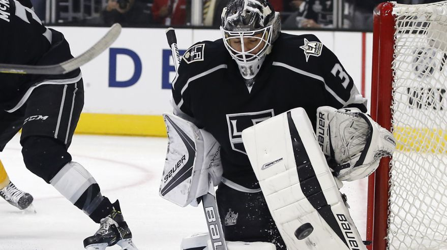 peter budaj, nhl, okt2016, LA Kings