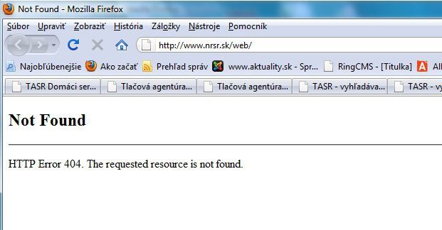 Anonymous nrsr screen